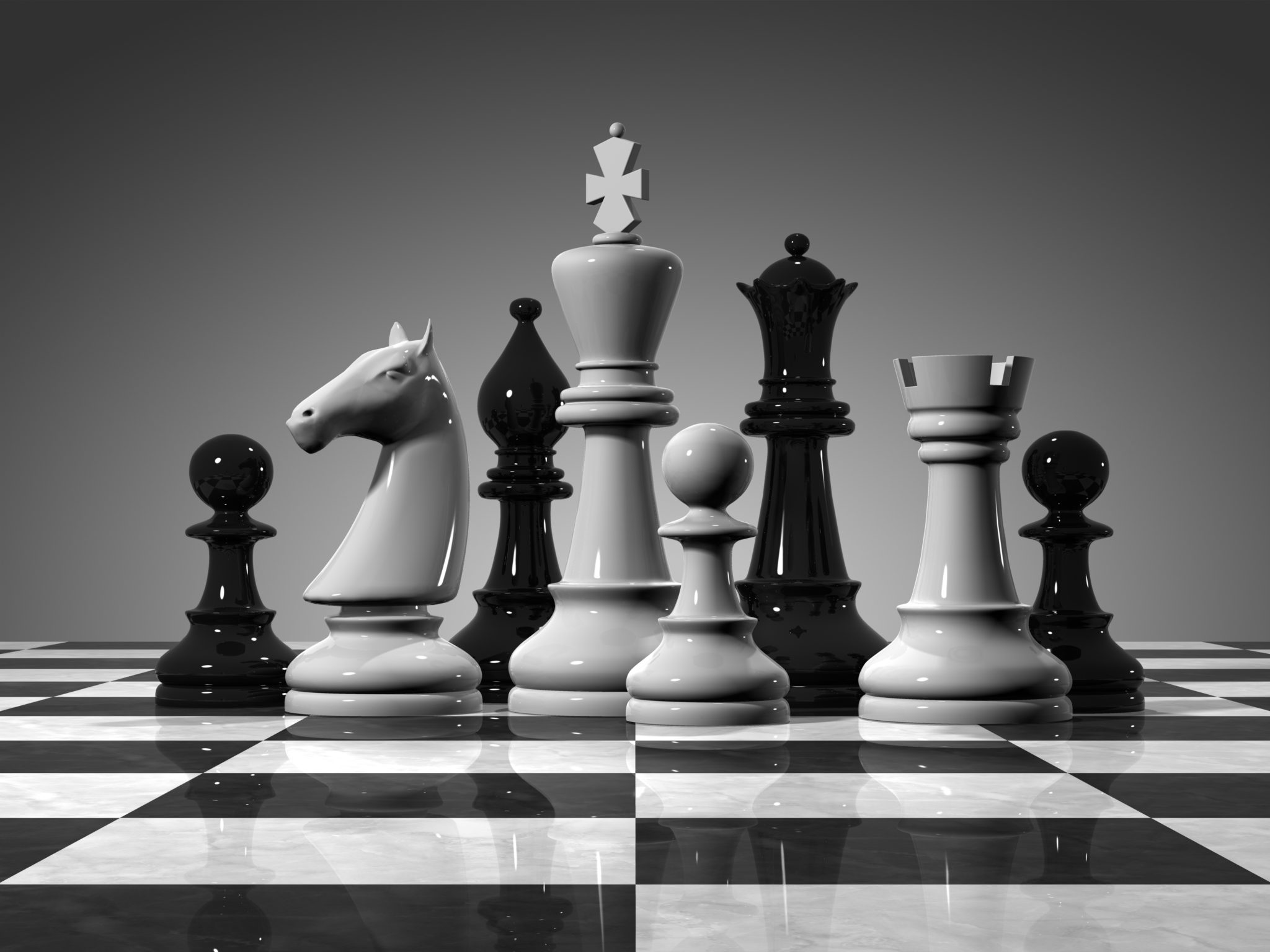 Chess Black And White King Wallpaper 1