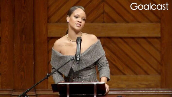 Rihanna gives an inspiring speech about the power of helping others