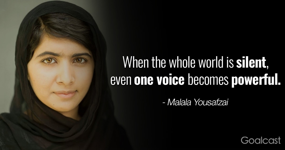I Am Malala Quotes Classy Top 12 Most Inspiring Malala Yousafzai Quotes  Goalcast
