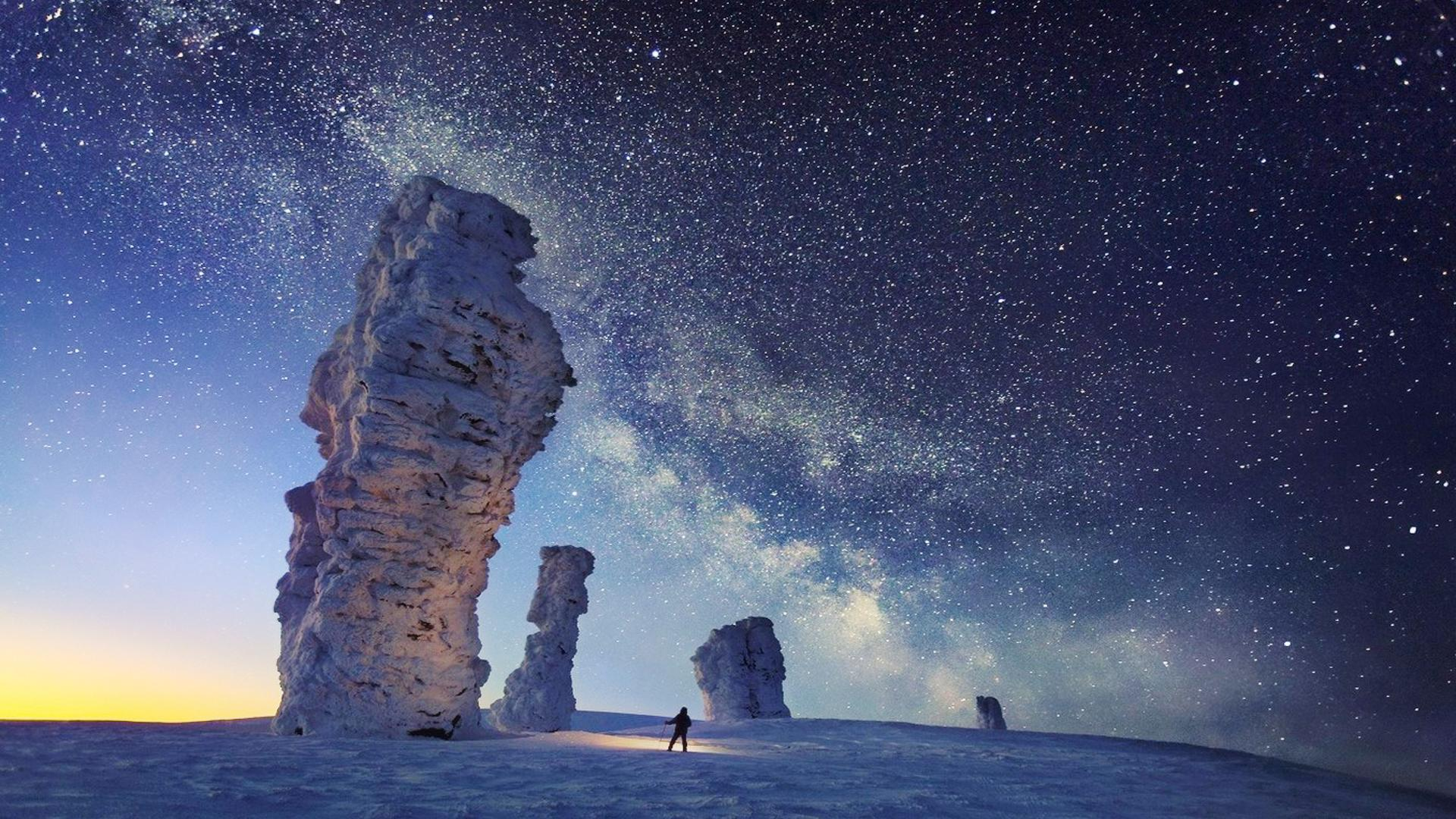 Nature as a teacher: Man Looking At The Stars