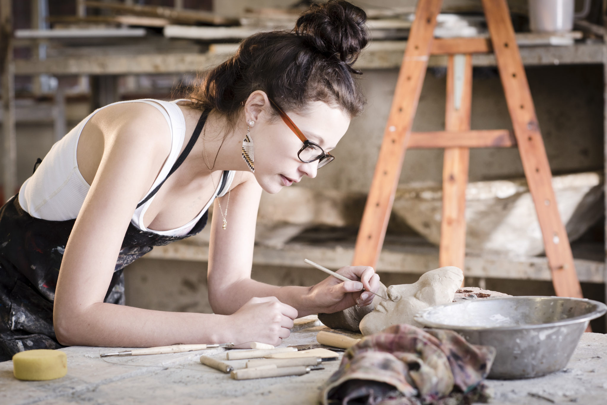 artist working - turn your creative hobby into a career