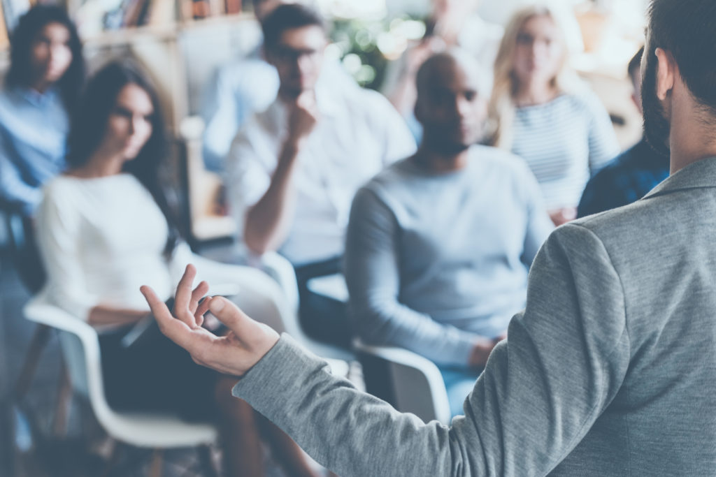 use public speaking engagements to promote your personal brand