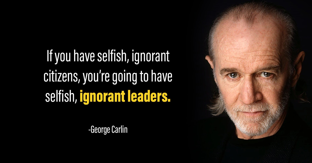 George Carlin quotes about politics