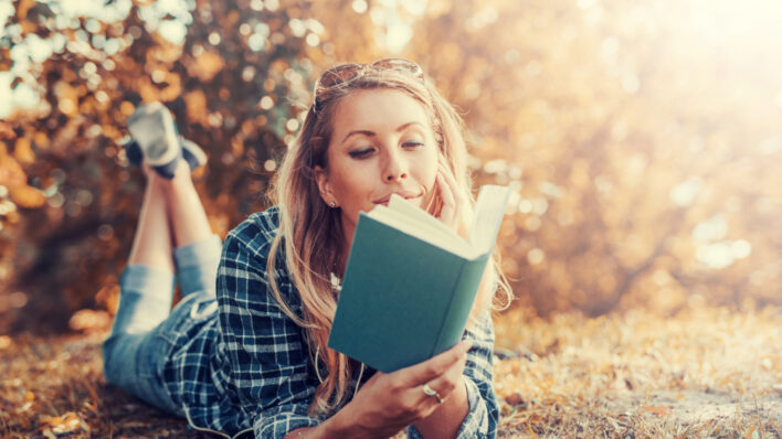 get offline and read a book in the park
