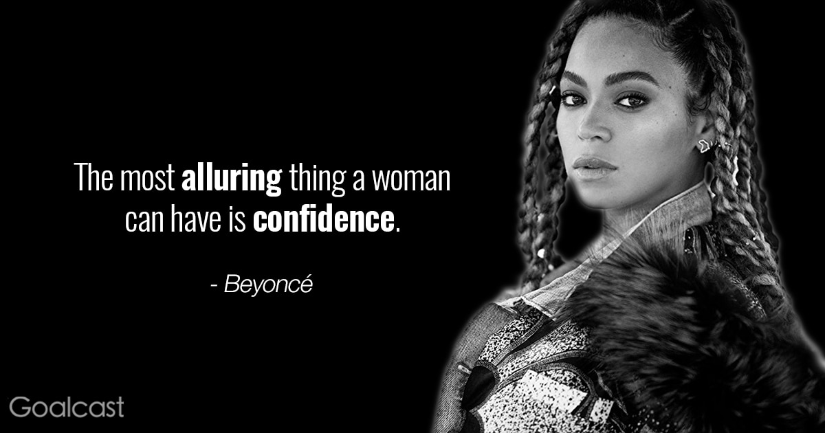empowering Beyoncé quotes - The most alluring thing a woman can have is confidence