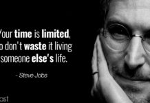 Steve Jobs quotes on being yourself - Time is limited