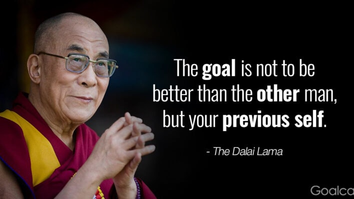 Dalai Lama on getting to your best self: The goal is to be better than your previous self