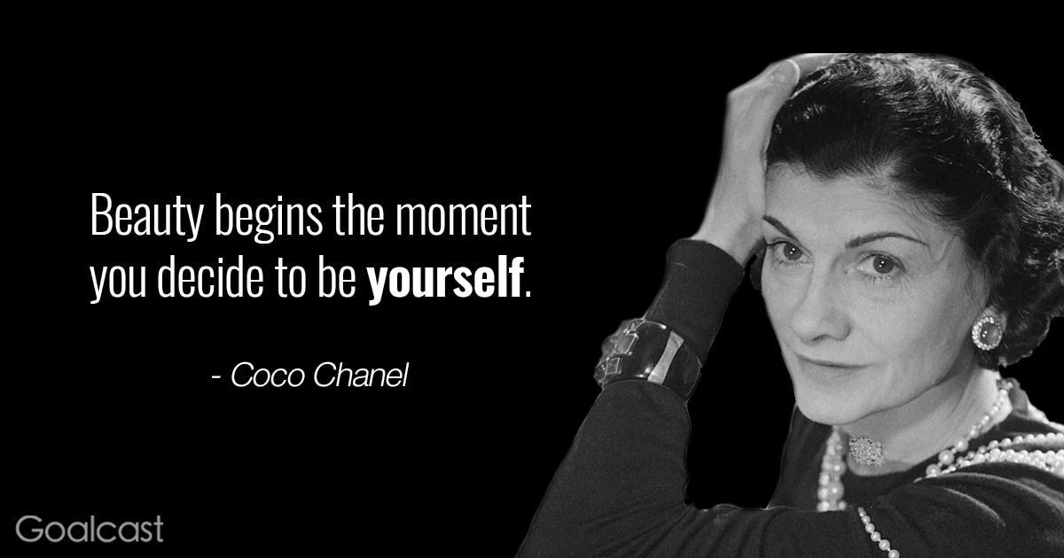 Coco Chanel quotes - Beauty begins the moment you decide to be yourself