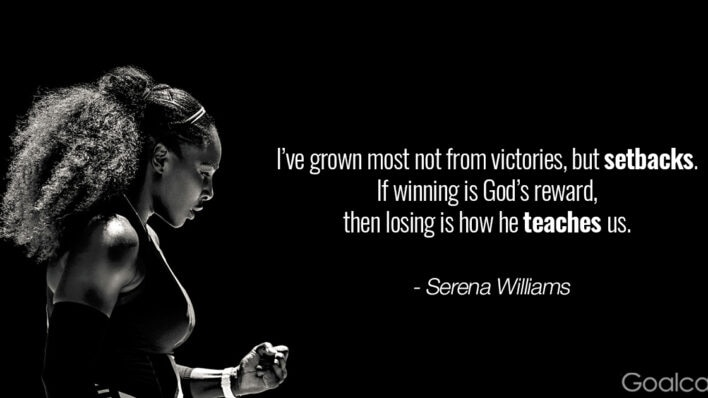 Serena Williams quotes - Ive grown most not from victories, but setbacks. If winning is Gods reward, then losing is how he teaches us