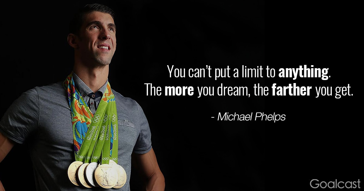 Attractive Michael Phelps Quote   You Canu0027t Put A Limit To Anything, The More
