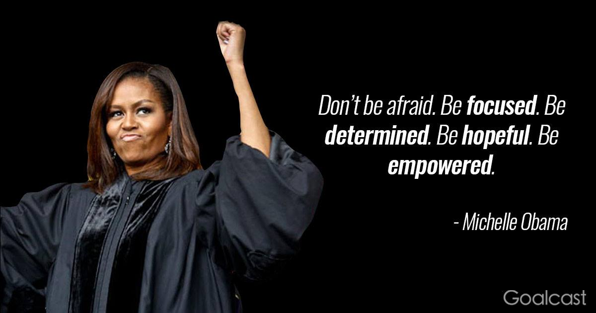 Michelle Obama Quotes Beauteous Michelleobamaquotefocusedempowered Goalcast