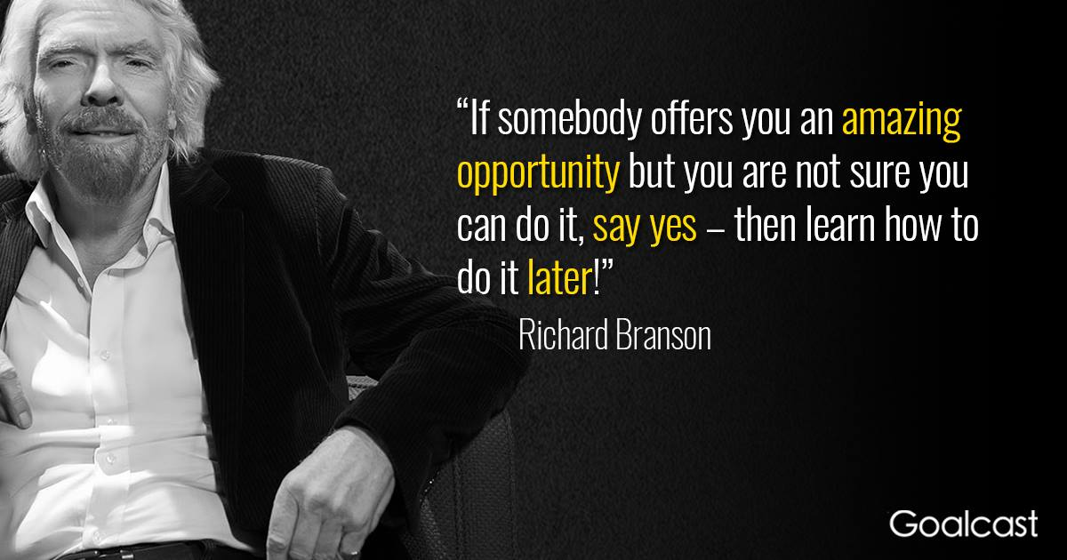 Richard Branson Quote Opportunity Goalcast