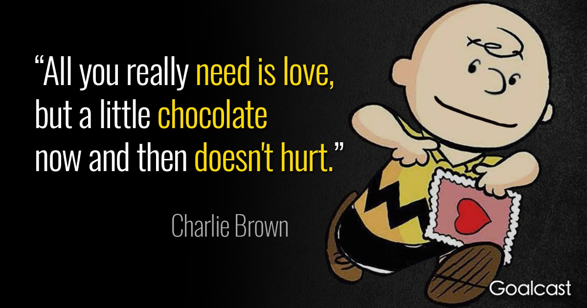 Charlie Brown Quotes On Love And Chocolate