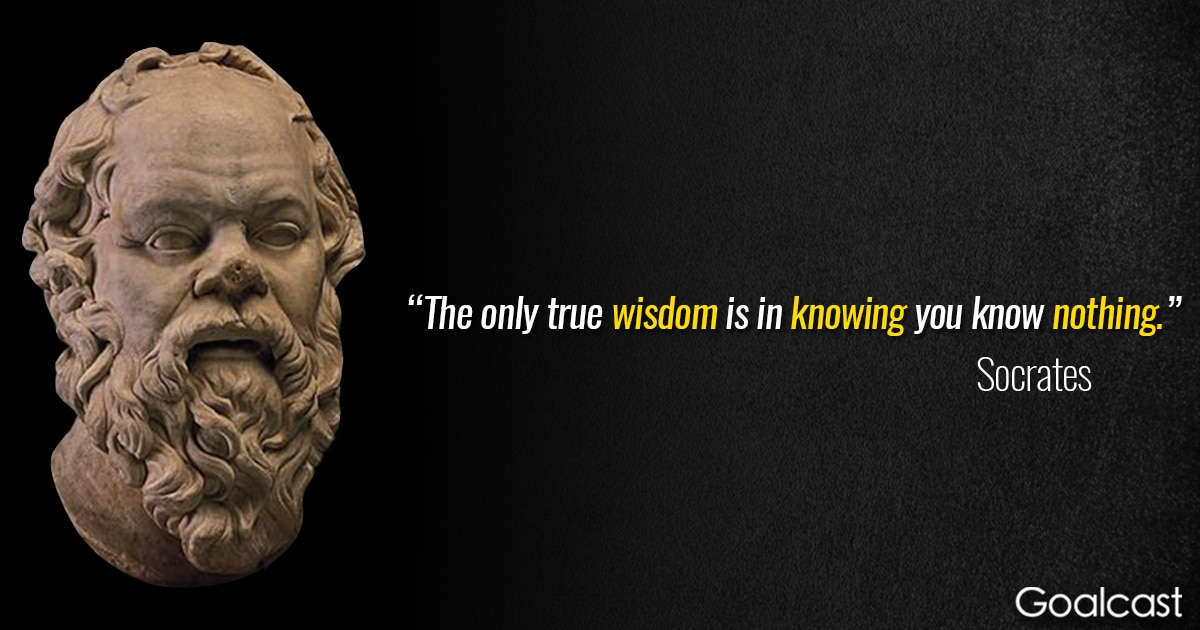 Socrates Quotes socrates quote true wisdom knowing nothing | Goalcast Socrates Quotes