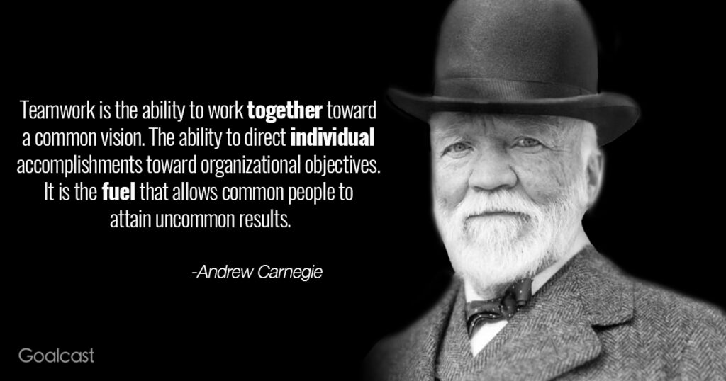 andrew-carnegie-quote-teamwork-working-together-common-vision