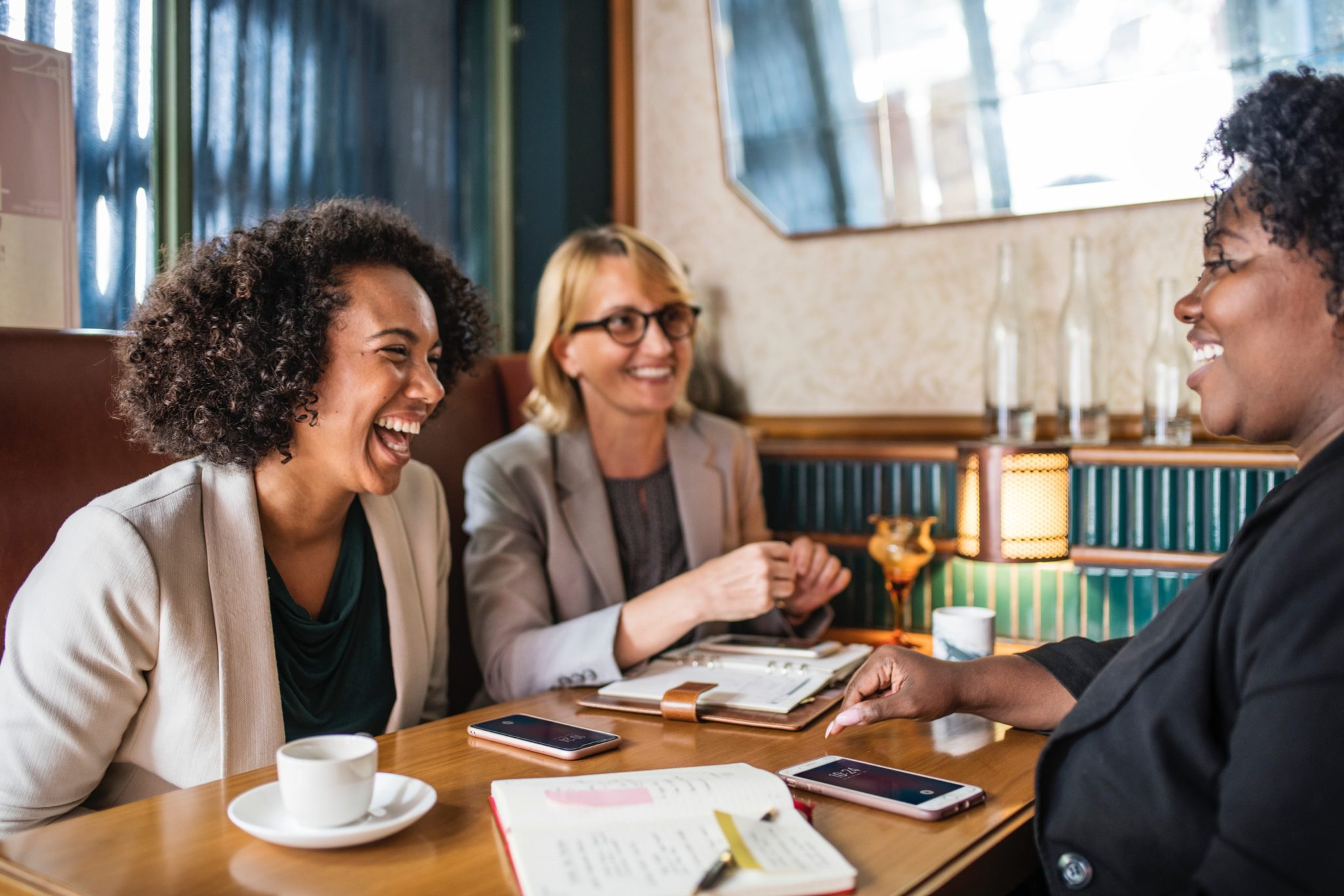 professionals-having-fun-conversation