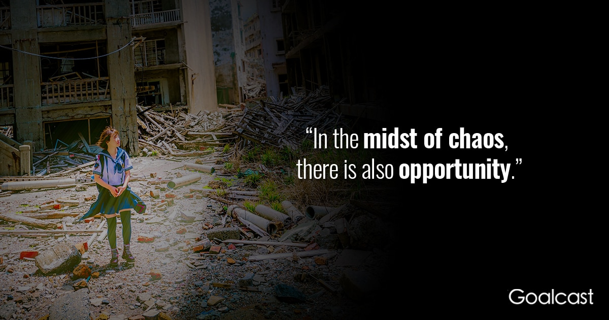 Art of War Quote: Opportunity in the Midst of Chaos | Goalcast