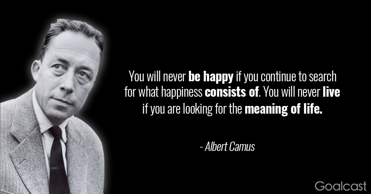 albert camus quotes to help you to stop overthinking your life