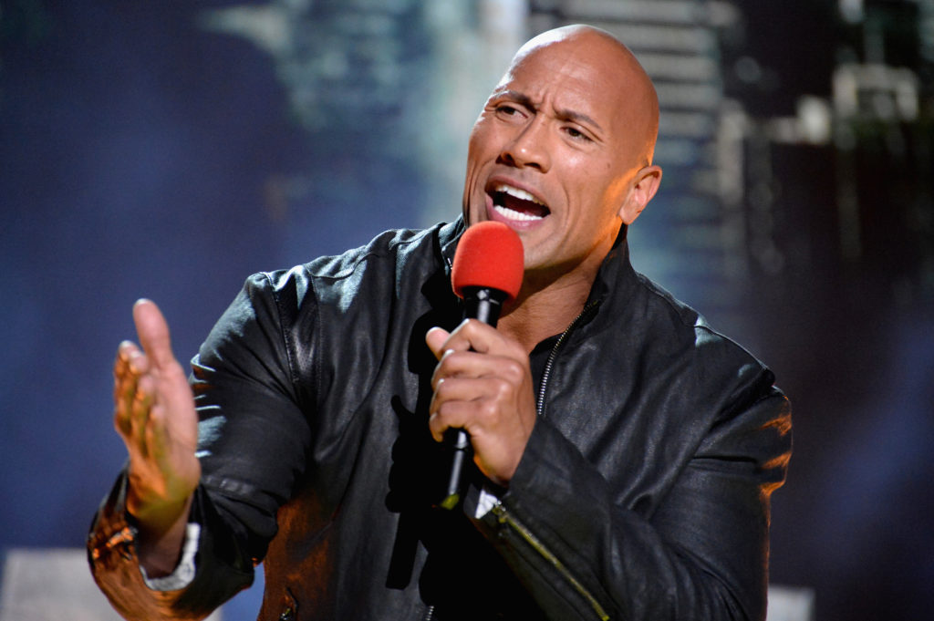 Dwayne-Johnson-speaking