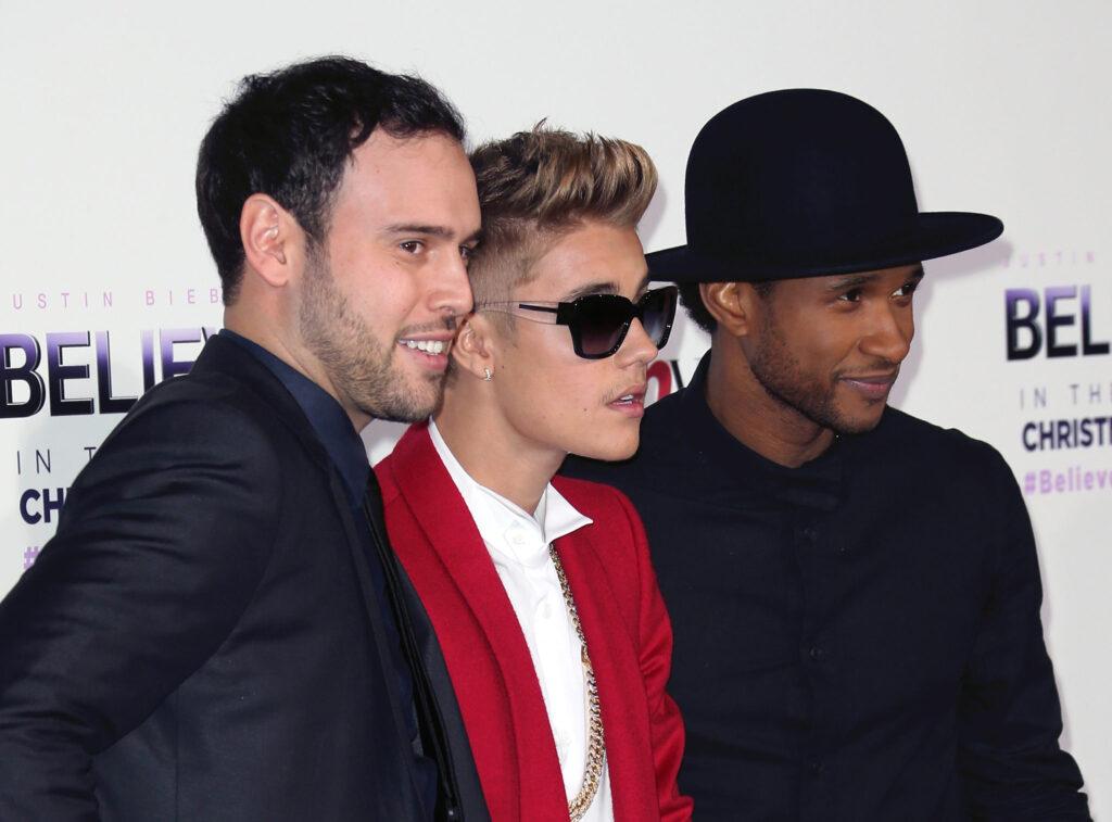 Scooter-Braun-Usher-and-Justin-Bieber
