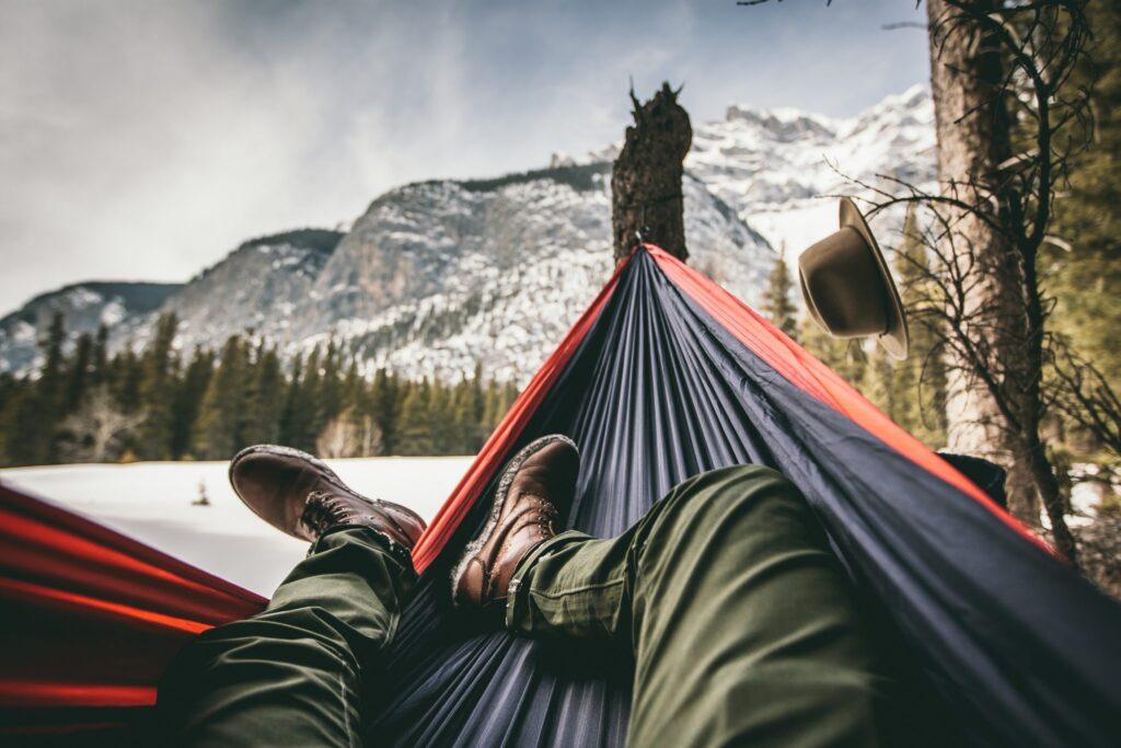 Man-laying-in-hammock
