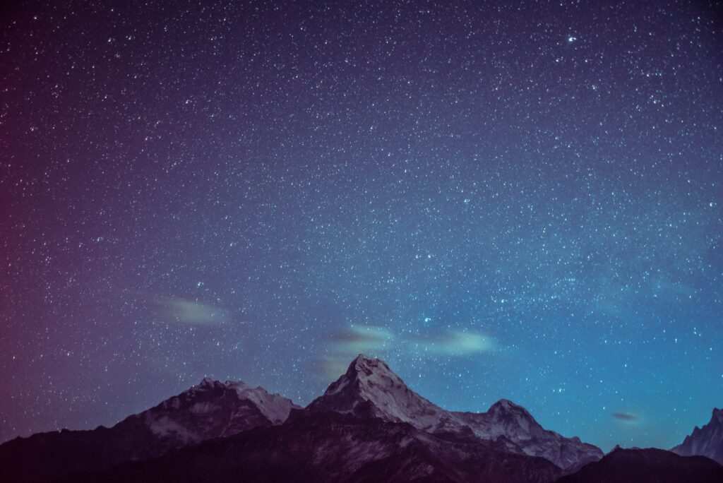Stars-over-a-mountain