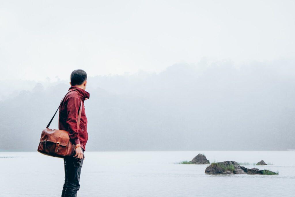 Man-traveling-alone