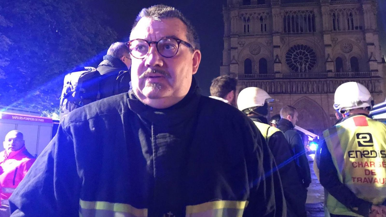 Brave Chaplain Runs Into Burning Notre-Dame to Save Priceless Relics