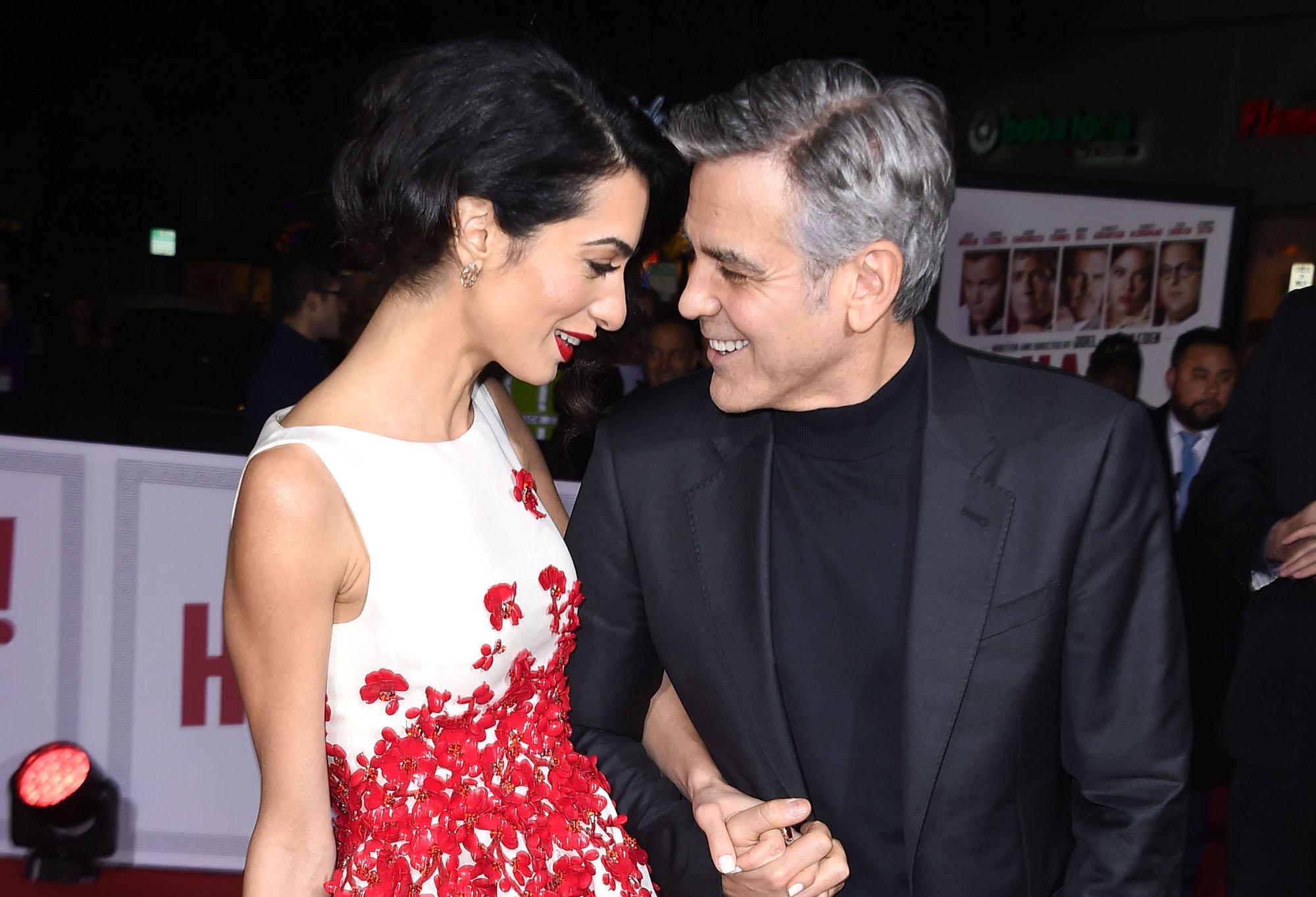 Soţia lui George Clooney, Amal, a născut gemeni