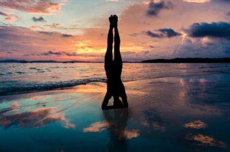 Yoga meditation in water