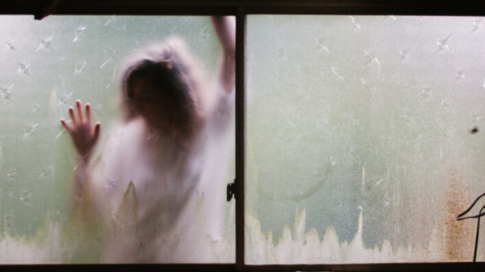 Person in window