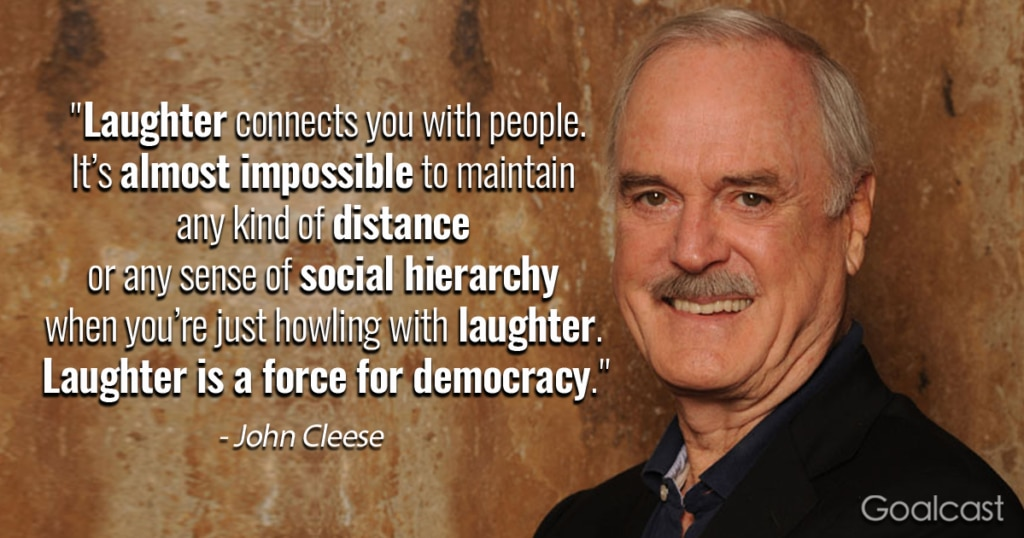 Laughter Quotes-John Cleese