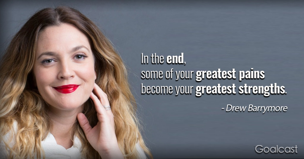 This image has an empty alt attribute; its file name is Drew-Barrymore-quote-on-pain-1024x538.png