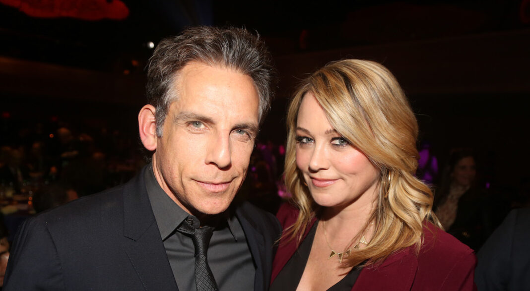 Ben Stiller and Wife Christine Taylor