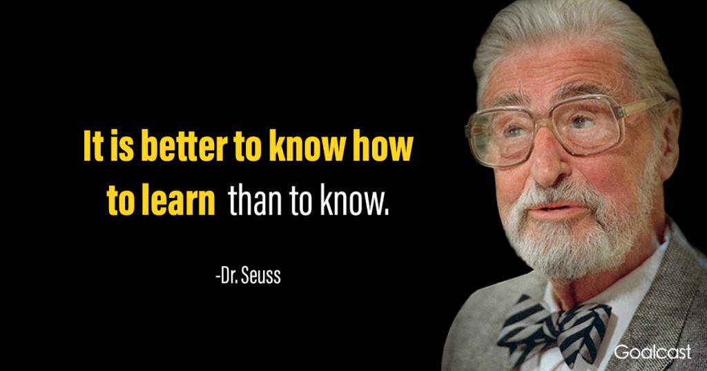 Dr Seuss quotes about education
