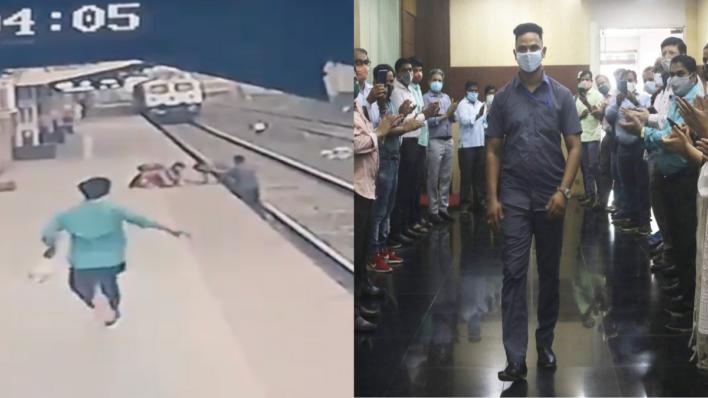 Pointsman Mayur Shelke saves child who fell on railway tracks
